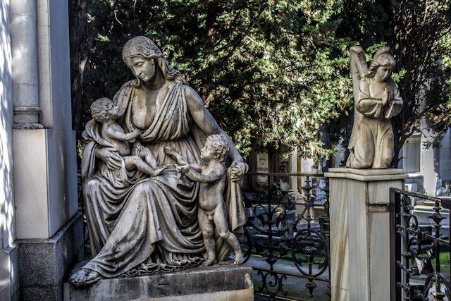Madrid Cementerio San Isidro Estatua