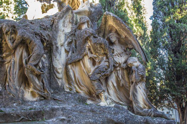Madrid Cementerio San Isidro Tumba Arenisca
