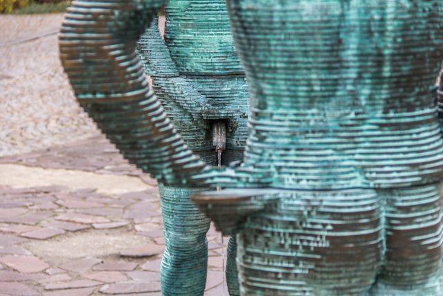 Praga David Cerny Proudy Detalle
