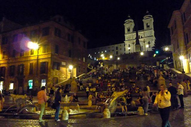 Roma Piazza Spagna Noche