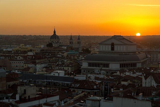 Puestas de sol de madrid belleza en la ciudad for El corte ingles madrid sol