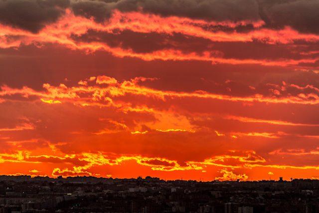Madrid Puesta Sol Siete Tetas Cerro Tio Pio Detalle