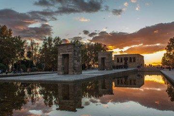 Madrid Puesta Sol Templo Debod