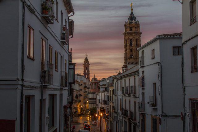 Malaga Antequera Centro Historico Puesta de Sol