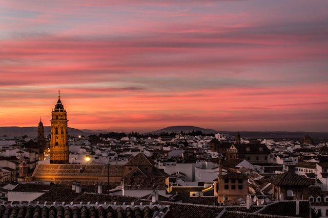 Malaga Antequera Puesta Sol Desde Alcazaba