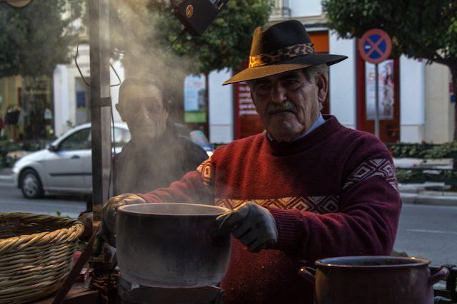 Malaga Antequera Vendedor Castanas