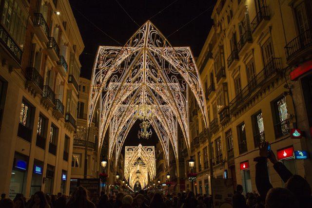 Malaga Calle Larios Christmas Lights