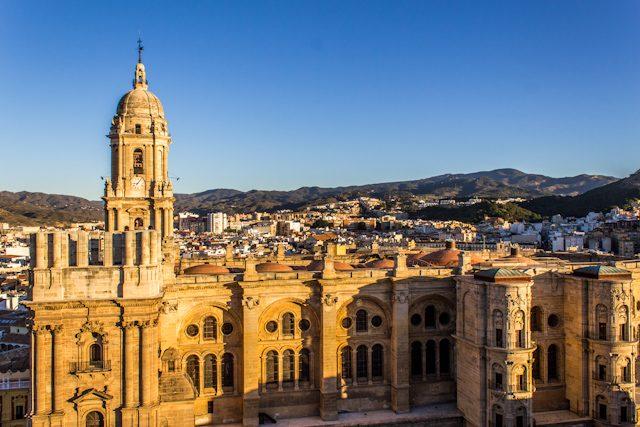 Malaga Cathedral Manquita Panorama