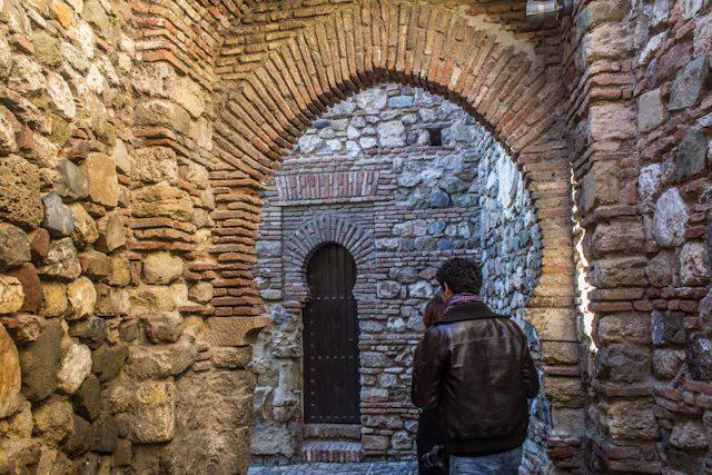 Malaga Muros Alcazaba Interior