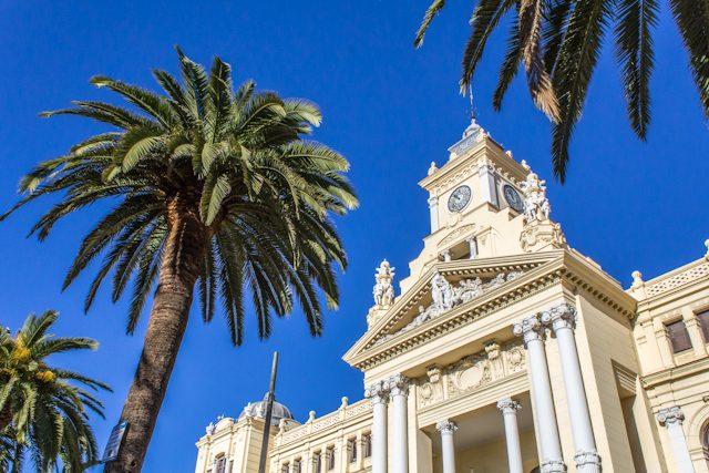 Malaga Paseo del Parque Town Hall