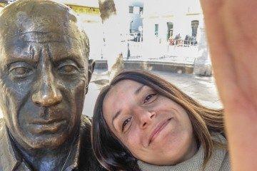 Malaga Selfie Picasso