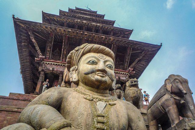 Nepal Plaza Durbar Bhaktapur Templo Nyatapola