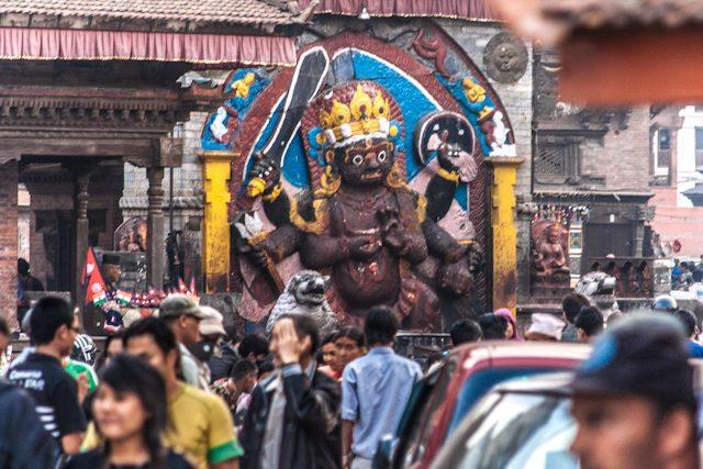 Nepal Plaza Durbar Calle Katmandu
