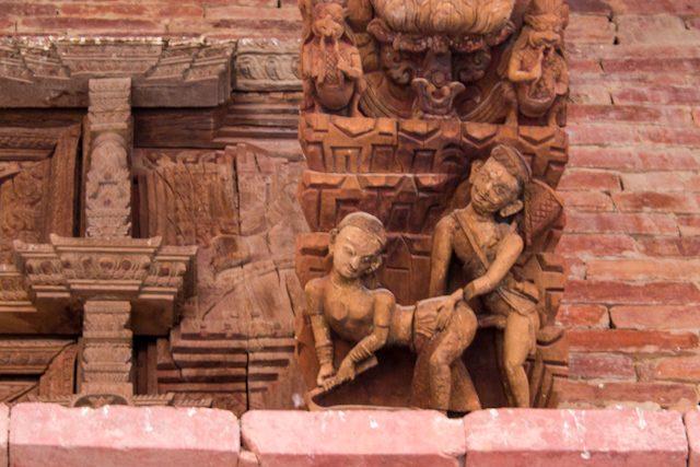 Nepal Plaza Durbar Katmandu Tallas Eroticas