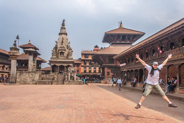 Nepal Plaza Durbar Patan Salto