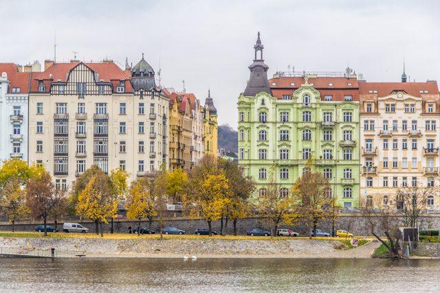 Praga Otono Moldava Edificios