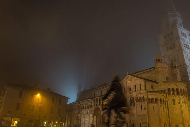 Italia Modena Plaza Piazza Grande Duomo Nocturna