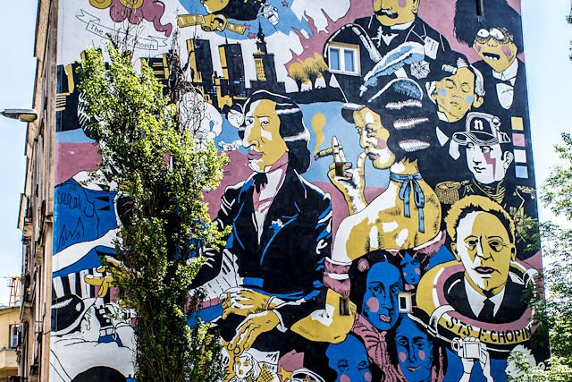 Polonia Varsovia Graffiti Chopin