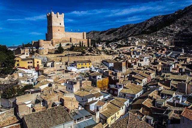 Alicante Villena Castillo Campanario Santa Maria