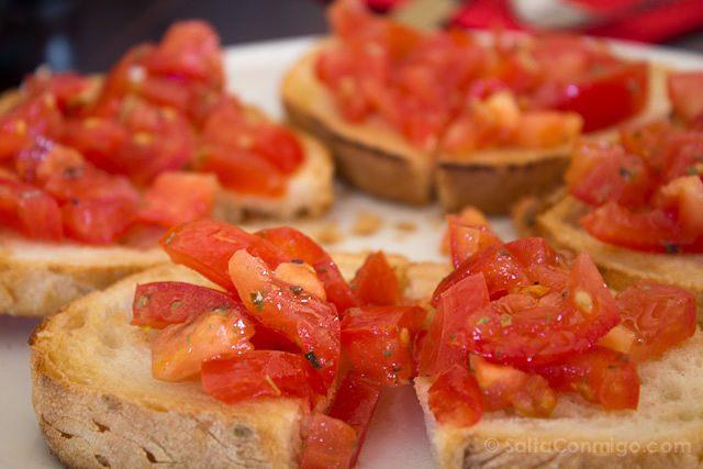Comida tipica Italia bruschette