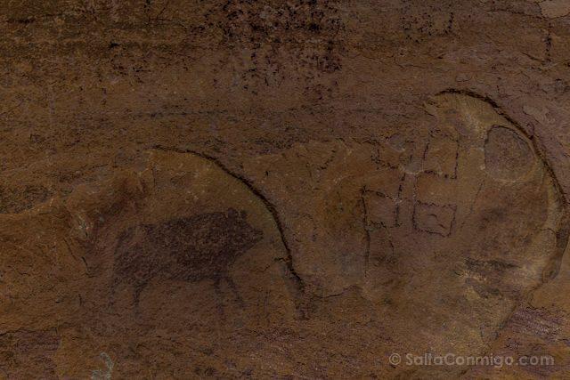 Cuenca Villar del Humo Pintura Rupestre Pena Escrito Jabali