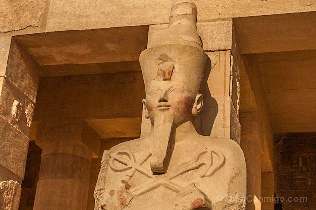 Egipto Templo Funerario Hatshepsut Deir-el-Bahari Estatua