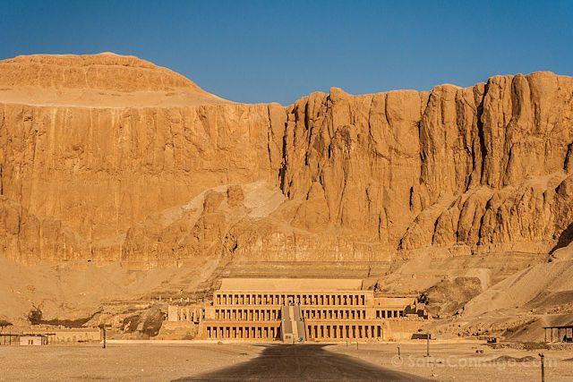 Egipto Templo Funerario Hatshepsut Deir-el-Bahari Panorama