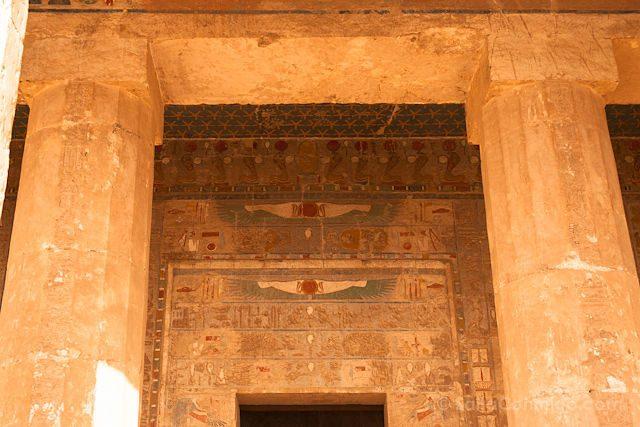 Egipto Templo Funerario Hatshepsut Deir-el-Bahari Relieves Puerta