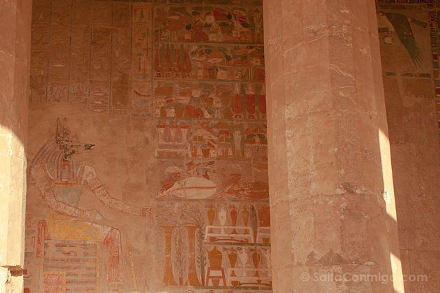 Egipto Templo Funerario Hatshepsut Deir-el-Bahari Relieves