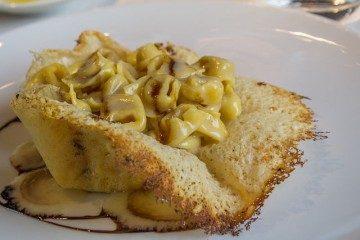 Pasta Rellena Italiana Modena Tortellini Crema Parmesano Cesta