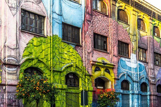 Roma diferente Ostiense Graffiti Blu