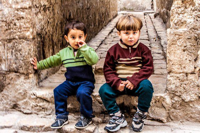 Siria Alepo Zoco Ninos