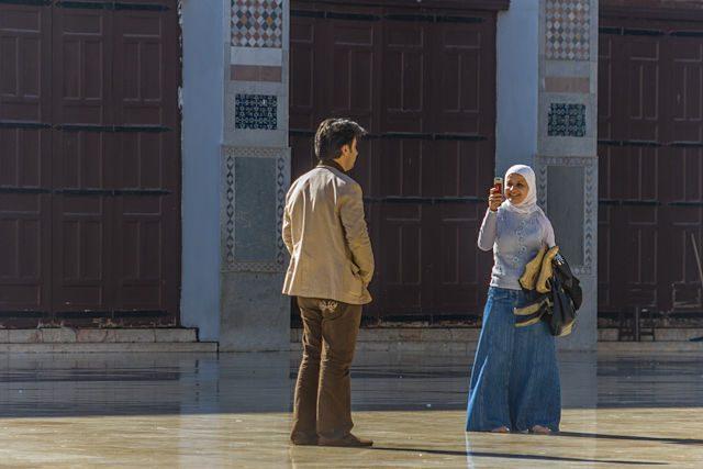 Siria Damasco Mezquita Gente Foto