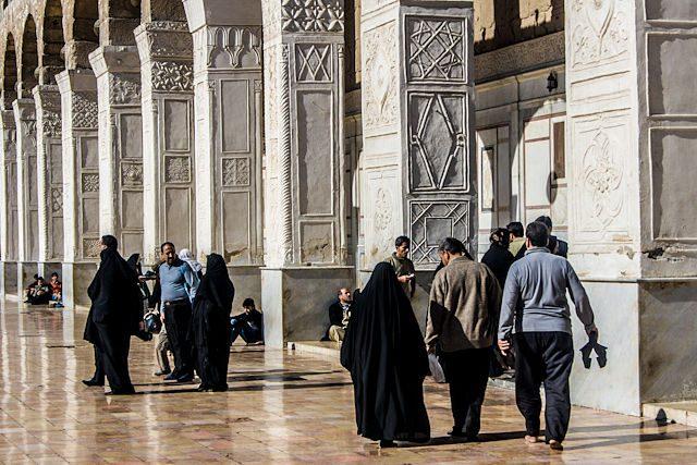 Siria Damasco Mezquita Gente