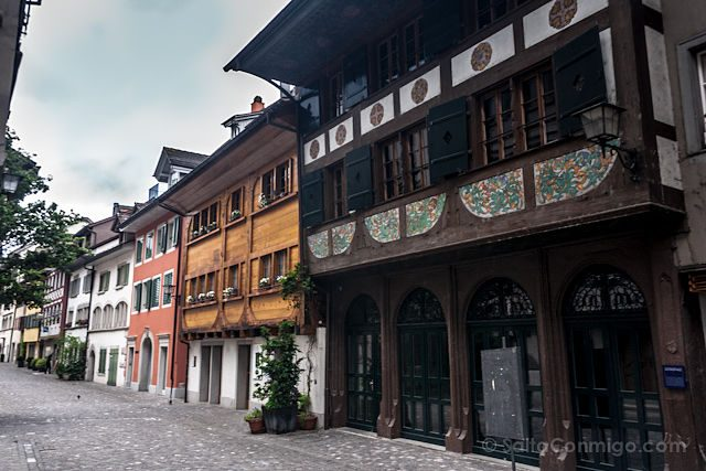 Suiza Zug Calle Fachadas