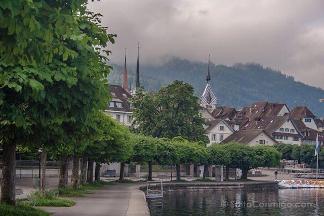Suiza Zug Lago Orilla Ciudad