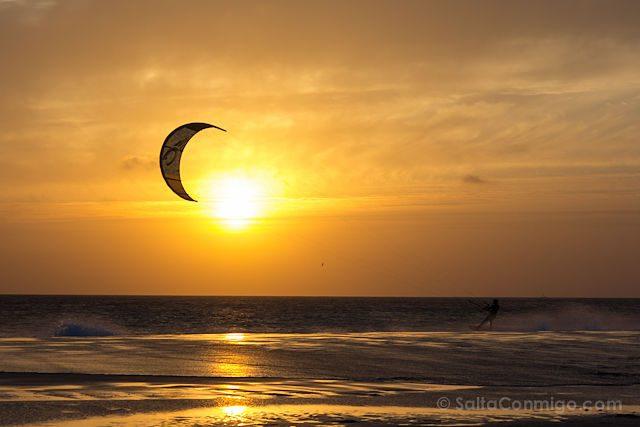 Cadiz Tarifa Playa Los Lances Kitesurf Puesta Sol