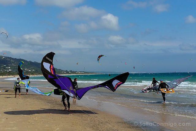 Cadiz Tarifa Playa Valdevaqueros Cometa Batman