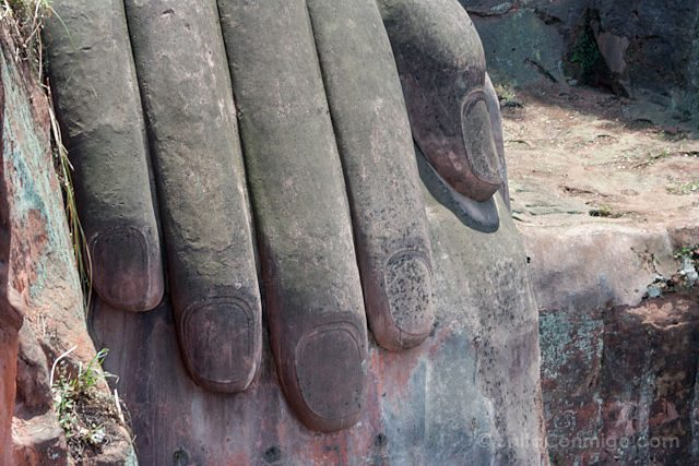 China Leshan Gran Buda Detalle Manos