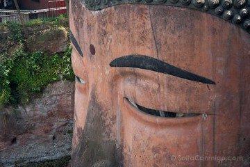 China Leshan Gran Buda Detalle Ojos