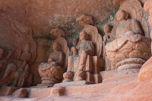 China Leshan Gran Buda Estatuas Escalera