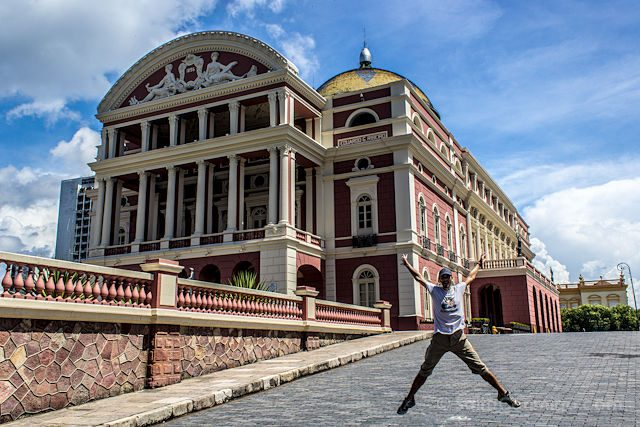 Brasil Manaus Teatro Amazonas Salto