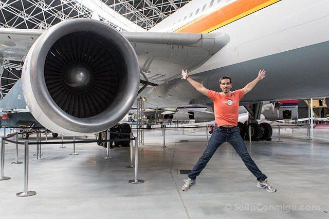 Toulouse Museo Aeroscopia Motor Airbus A300B Salto
