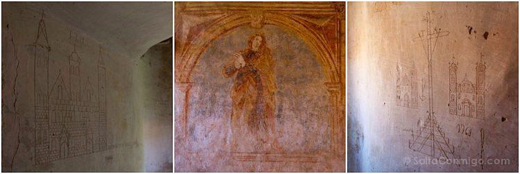 Francia Sainte-Eulalie de Cernon Templario Pinturas Mosaico