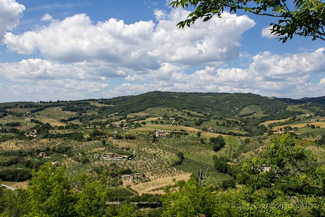 Italia Umbria Assissi Bosque San Francisco Panorama