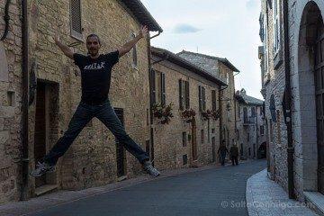 Italia Umbria Assissi Calles Asis Salto