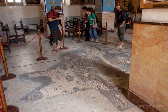 Jordania Madaba San Jorge Mosaico Cruzadas