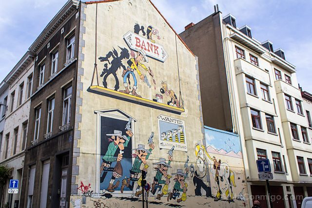 Belgica Bruselas Ruta Comic Lucky Luke