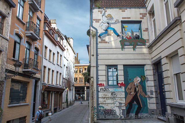 Belgica Bruselas Ruta Comic Mural Ric Hochet