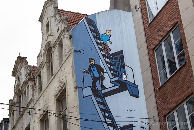 Belgica Bruselas Ruta Comic Mural Tintin